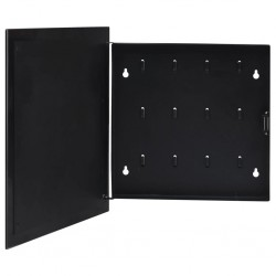 stradeXL Key Box with Magnetic Board Black 35x35x5.5 cm