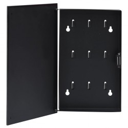 stradeXL Key Box with Magnetic Board Black 30x20x5.5 cm