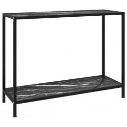 stradeXL Stolik konsolowy, czarny, 100x35x75 cm, szkło hartowane