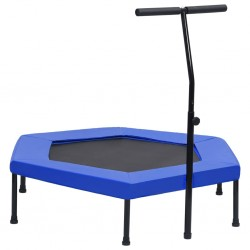 stradeXL Fitness Trampoline with Handle and Safety Pad Hexagon 122 cm