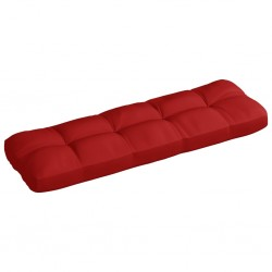 stradeXL Poduszka na sofę ogrodową, czerwona, 120x40x12 cm, tkanina