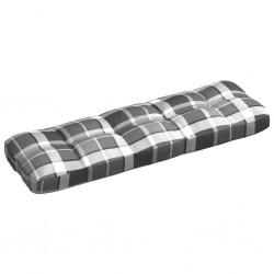 stradeXL Poduszka na sofę ogrodową, szara krata, 120x40x12 cm, tkanina