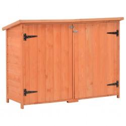 stradeXL Schowek ogrodowy, 120x50x91 cm, drewniany