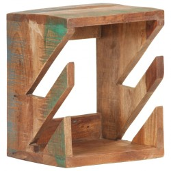 stradeXL Wall Mounted Skateboard Holder 25x20x30 cm Solid Reclaimed Wood