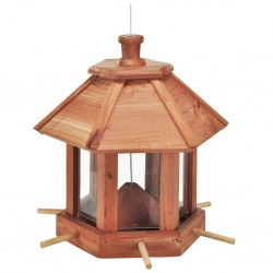 HI Hanging Bird Feeder Station Brown
