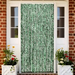 stradeXL Insect Curtain Green and White 90x220 cm Chenille