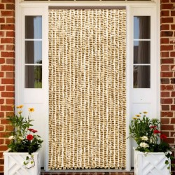 stradeXL Insect Curtain Beige and Brown 56x185 cm Chenille