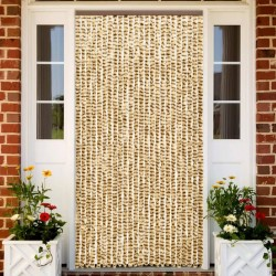 stradeXL Insect Curtain Beige and Brown 100x220 cm Chenille