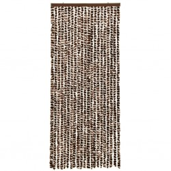 stradeXL Insect Curtain Brown and White 56x185 cm Chenille