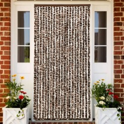 stradeXL Insect Curtain Brown and White 90x220 cm Chenille