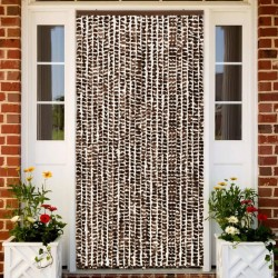 stradeXL Insect Curtain Brown and White 100x220 cm Chenille