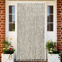 stradeXL Insect Curtain Light and Dark Grey 90x220 cm Chenille