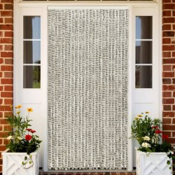 stradeXL Insect Curtain Light and Dark Grey 100x220 cm Chenille
