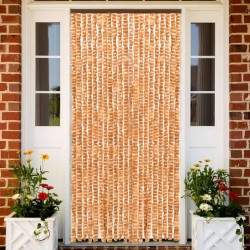 stradeXL Insect Curtain Ochre and White 90x220 cm Chenille