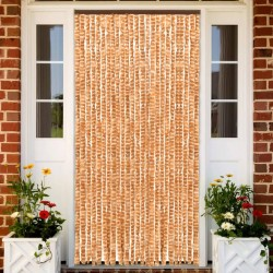 stradeXL Insect Curtain Ochre and White 100x220 cm Chenille