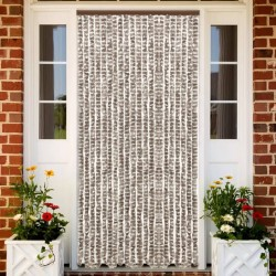 stradeXL Insect Curtain Taupe and White 90x220 cm Chenille