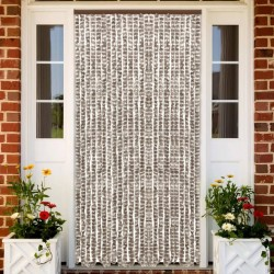 stradeXL Insect Curtain Taupe and White 100x220 cm Chenille