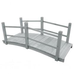stradeXL Garden Bridge Grey 140x60x56 cm Solid Firwood