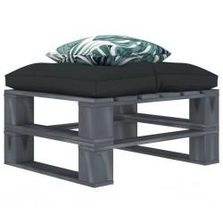stradeXL Ogrodowy stołek z palet, z poduszkami w 2 kolorach, drewniany