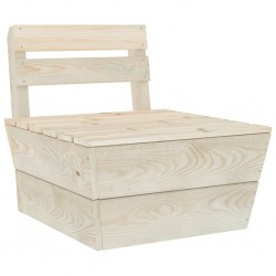 stradeXL Moduł sofy środkowej z palet, impregnowane drewno świerkowe