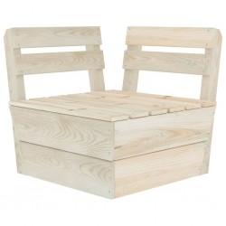 stradeXL Moduł sofy narożnej z palet, impregnowane drewno świerkowe
