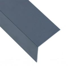stradeXL Kątowniki, 5 szt., aluminiowe, antracytowe, 170 cm, 60x40 mm