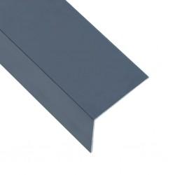 stradeXL Kątowniki, 5 szt., aluminiowe, antracytowe, 170 cm, 100x50 mm