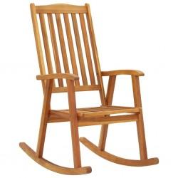 stradeXL Fotel bujany, lite drewno akacjowe