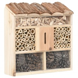 stradeXL Insect Hotel 30x10x30 cm Firwood