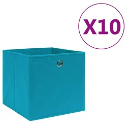 stradeXL Storage Boxes 10 pcs Non-woven Fabric 28x28x28 cm Baby Blue