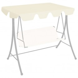 stradeXL Replacement Canopy for Garden Swing Cream 192x147 cm 270 g/m²