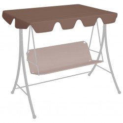 stradeXL Replacement Canopy for Garden Swing Brown 192x147 cm 270 g/m²