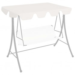 stradeXL Replacement Canopy for Garden Swing White 192x147 cm 270 g/m²