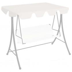 stradeXL Zadaszenie do huśtawki ogrodowej, białe, 192x147 cm, 270 g/m²