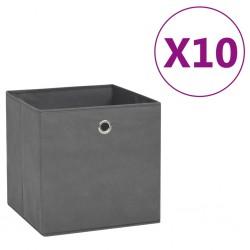 stradeXL Pudełka z włókniny, 10 szt., 28x28x28 cm, szare