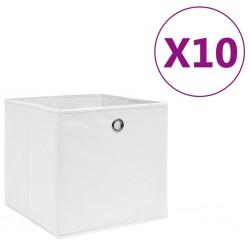 stradeXL Storage Boxes 10 pcs Non-woven Fabric 28x28x28 cm White