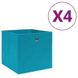 stradeXL Storage Boxes 4 pcs Non-woven Fabric 28x28x28 cm Baby Blue