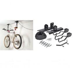 HI Uchwyt sufitowy do roweru, podnośnik, metalowy, czarny