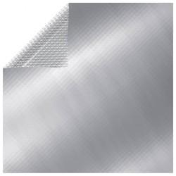 stradeXL Prostokątna, pływająca folia solarna na basen, 6x4 m, srebrna