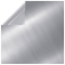 stradeXL Prostokątna, pływająca folia solarna na basen, 8x5 m, srebrna