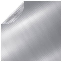 stradeXL Folia na basen, srebrna, 381 cm, PE