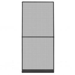 stradeXL Moskitiera na drzwi, antracytowa, 100 x 215 cm