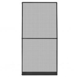 stradeXL Moskitiera na drzwi, antracytowa, 120 x 240 cm