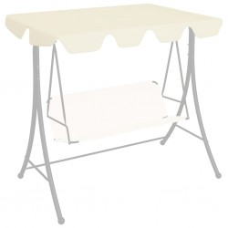 stradeXL Replacement Canopy for Garden Swing Cream 226x186 cm 270 g/m²