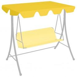 stradeXL Zadaszenie do huśtawki ogrodowej, żółte, 226x186 cm, 270 g/m²