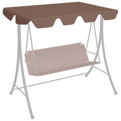 stradeXL Replacement Canopy for Garden Swing Brown 188/168x110/145 cm