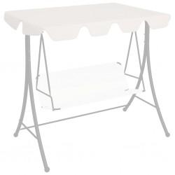 stradeXL Zadaszenie do huśtawki ogrodowej, białe, 226x186 cm, 270 g/m²