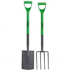 Draper Tools Widły ogrodowe i szpadel, stal węglowa, 28x18 cm, 16566