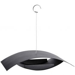 Esschert Design Wiszący karmnik dla ptaków, czarny, S FB437