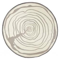 Esschert Design Dywan zewnętrzny, średnica 170 cm, przekrój drzewa